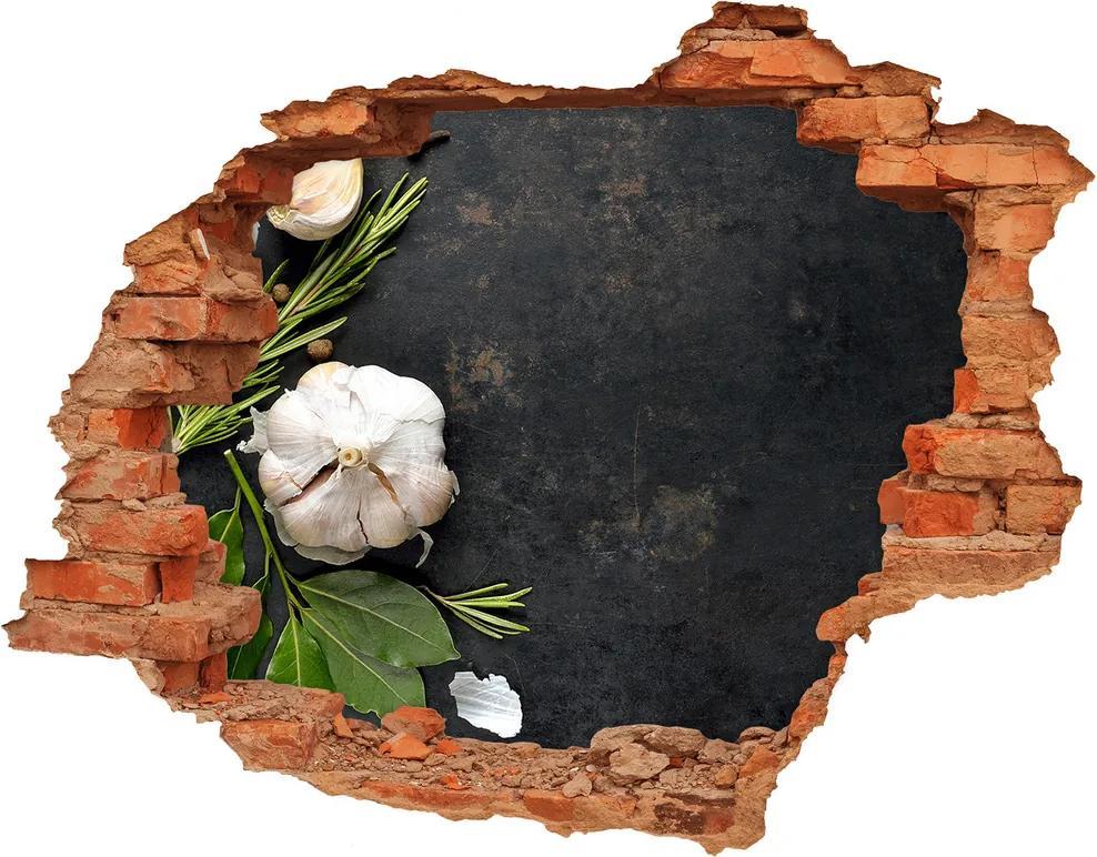 Samolepiaca diera nálepka betón Cesnak