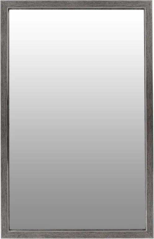 Oglinda dreptunghiulara cu rama din polistiren gri argintie/neagra Cliff, 56cm (L) x 36cm (W) x 1.6cm (H )