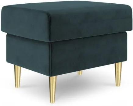 Puf Mazzini Sofas Muguet, 60 x 45 cm, albastru petrol