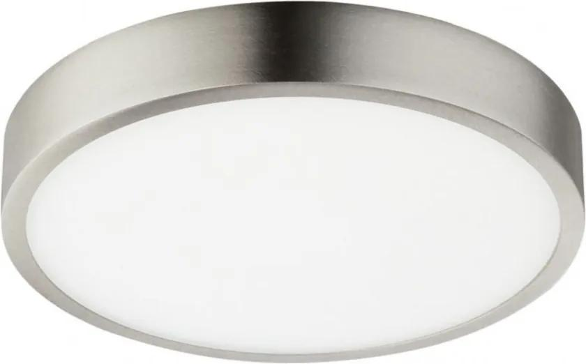 Plafoniera LED Alara IV sticla acrilica / aluminiu, alb/argintiu, 1 bec, diametru 17 cm