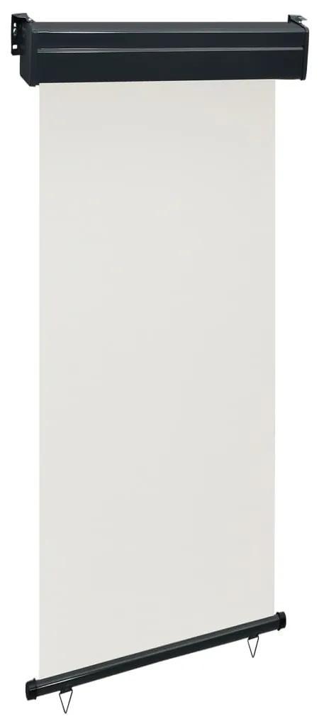 48413 vidaXL Copertină laterală de balcon, crem, 100 x 250 cm