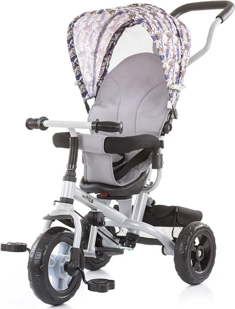 Tricicleta cu copertina si sezut reversibil Chipolino MaxRide gray