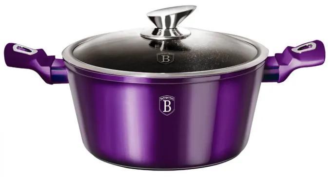 Oala cu capac 24 cm Metallic Line Royal Purple Edition Berlinger Haus BH 1865