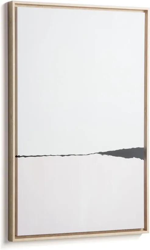 Tablou cu ramă La Forma Abstract, 60 x 90 cm, alb