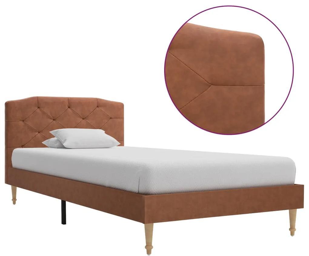 280557 vidaXL Cadru de pat, maro, 90 x 200 cm, material textil