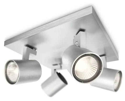 Philips 53094/48/16 - Lampa spot RUNNER argint 4xGU10/35W/230V