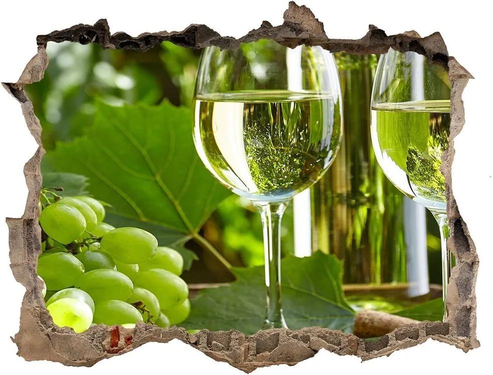 Autocolant autoadeziv gaură Vin alb și fructe