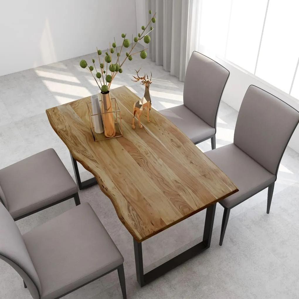 286474 vidaXL Masă de bucătărie, 140 x 70 x 76 cm, lemn masiv de acacia