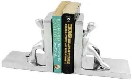 Set opritor carti pentru rafturi din metal, argintiu