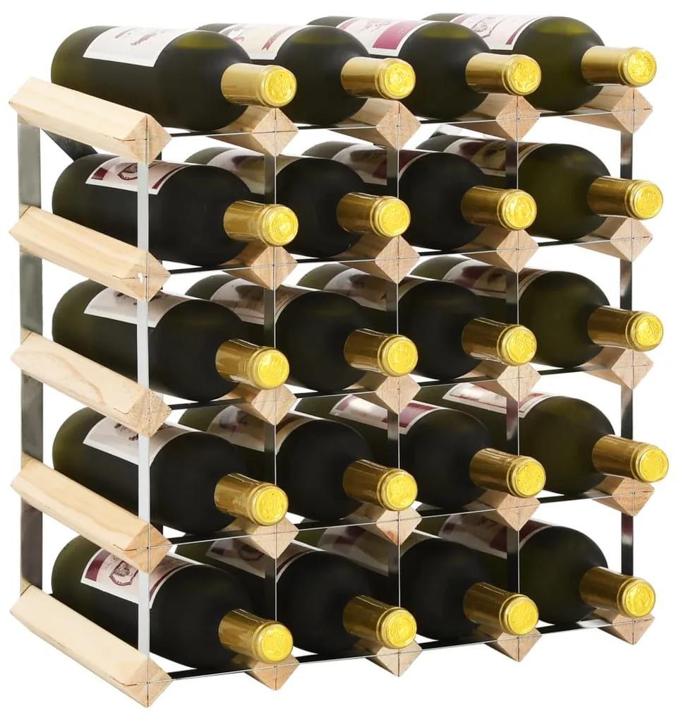 282469 vidaXL Suport sticle de vin pentru 20 sticle, lemn masiv de pin