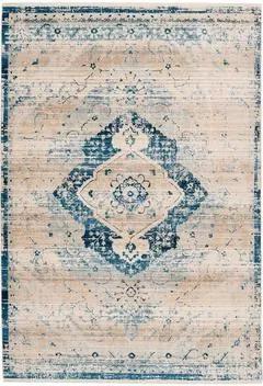 Covor Baroqu 500 crem / albastru, 120x170 cm