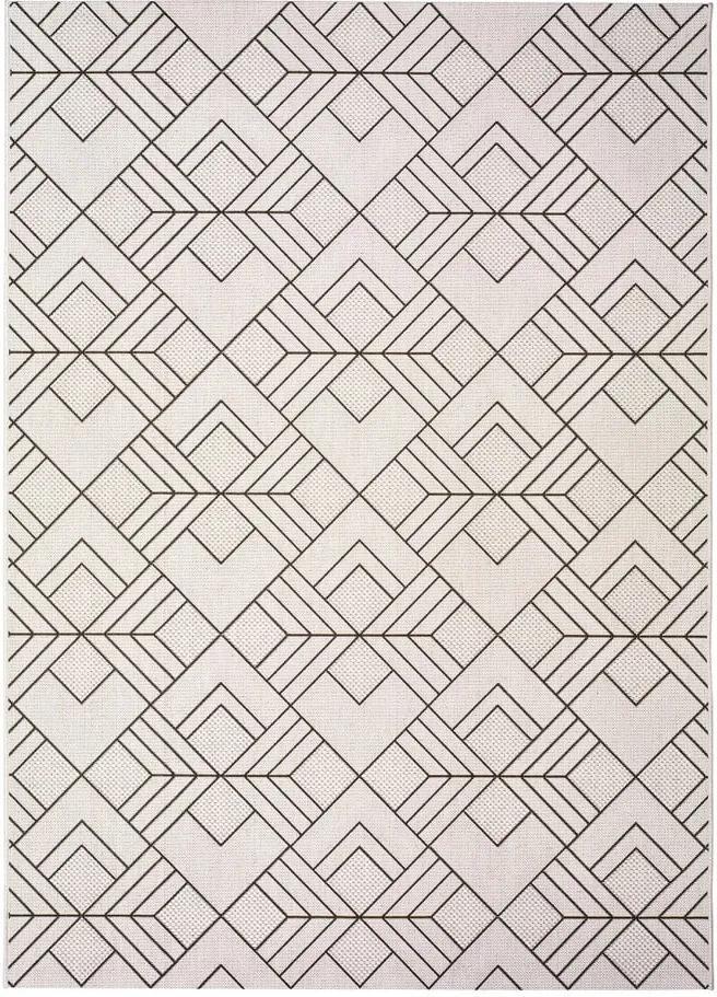 Covor pentru exterior Universal Silvana Caretto, 160 x 230 cm, bej-alb