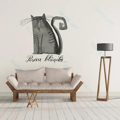 Sticker pentru perete - Pisica blanda 100x100 cm