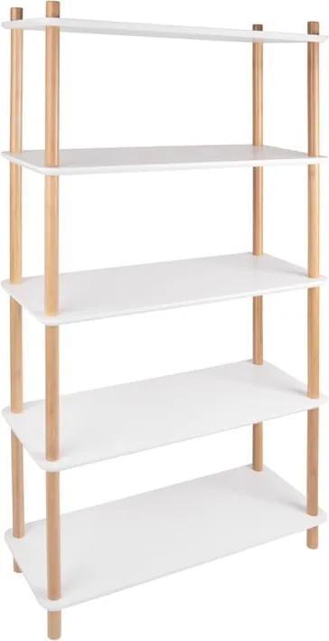 Etajeră cu picioare din bambus Leitmotiv Cabinet Simplicity, alb