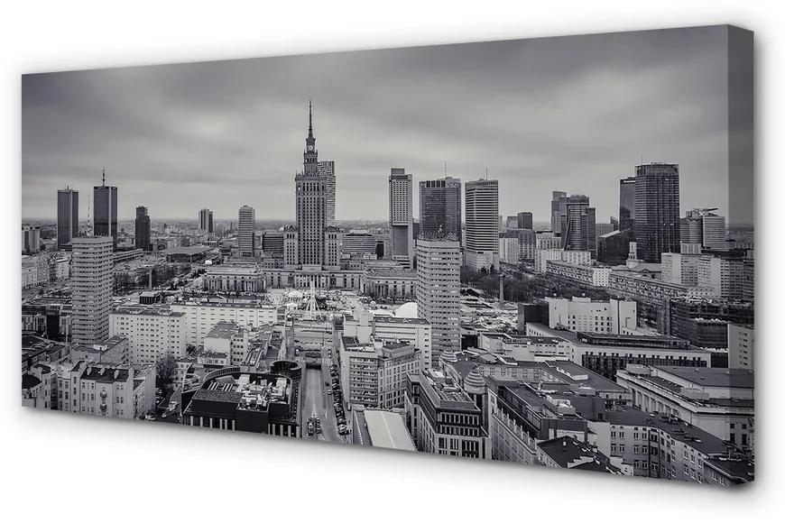 Tablouri canvas Tablouri canvas panorama Varșovia zgârie-nori