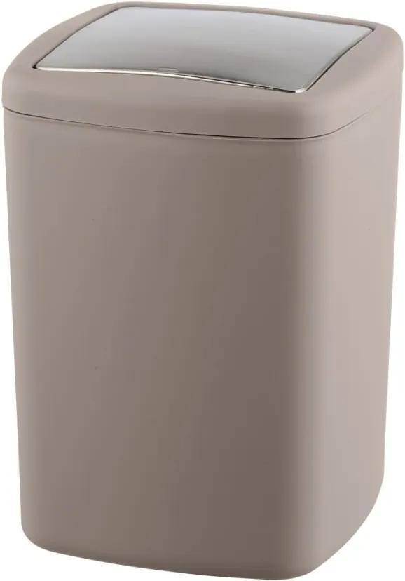 Coș de gunoi Wenko Barcelona L, înălțime 28,5 cm, maro-gri
