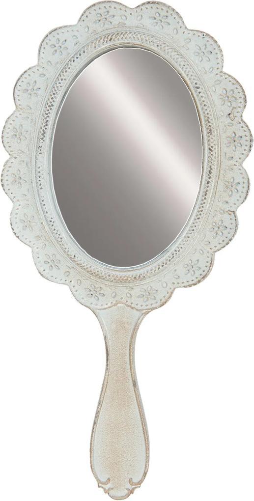 Oglinda de mana polirasina gri vintage 13 x 2 x 27 cm