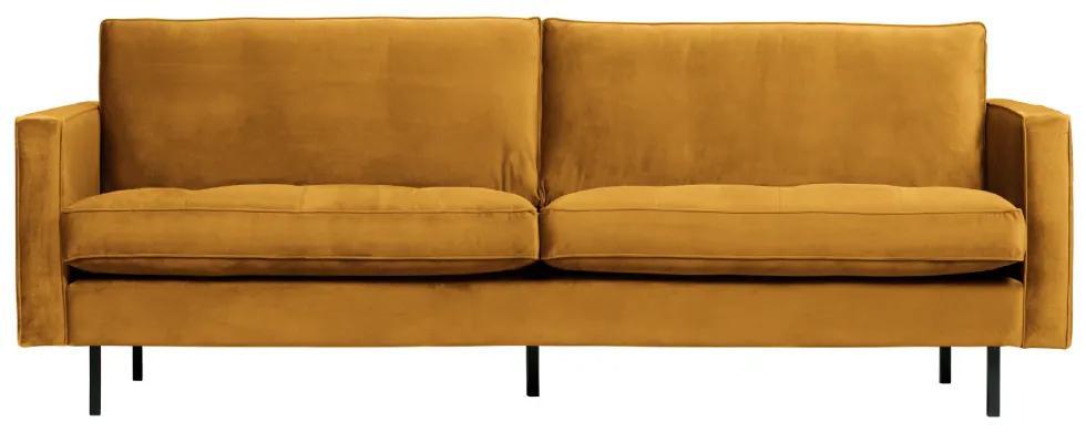 Canapea din catifea galbena Rodeo Classic Sofa Ochre