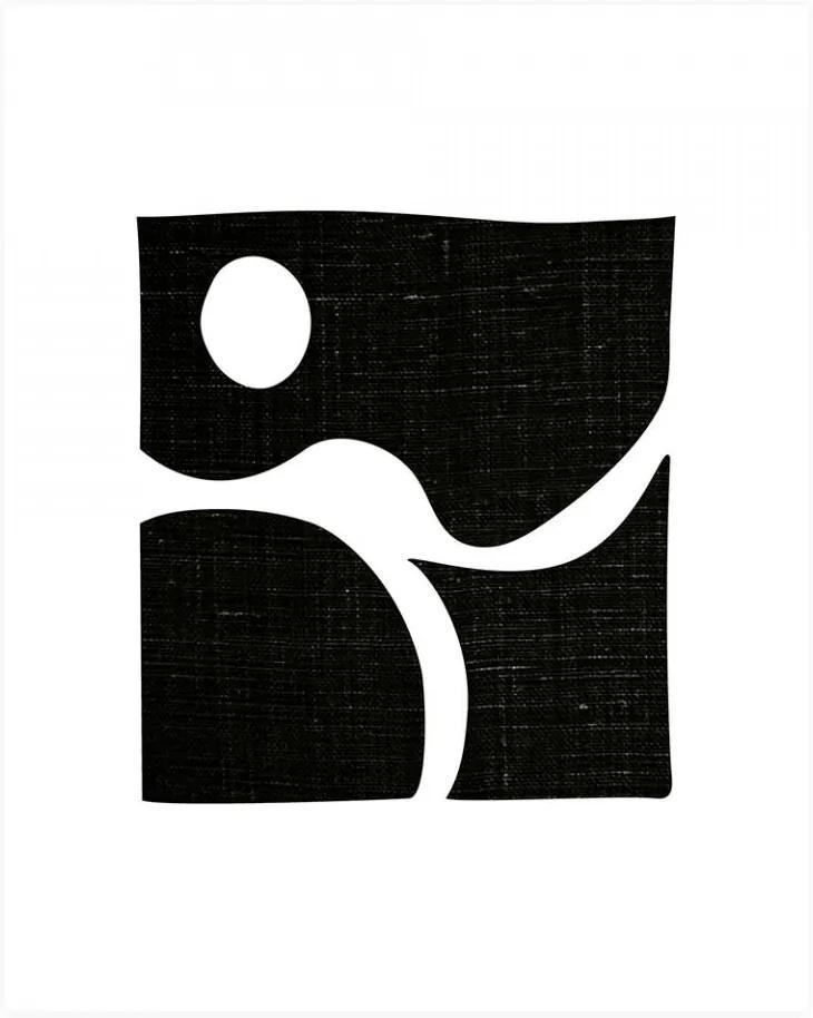 Poster alb/negru 30x40 cm Simple