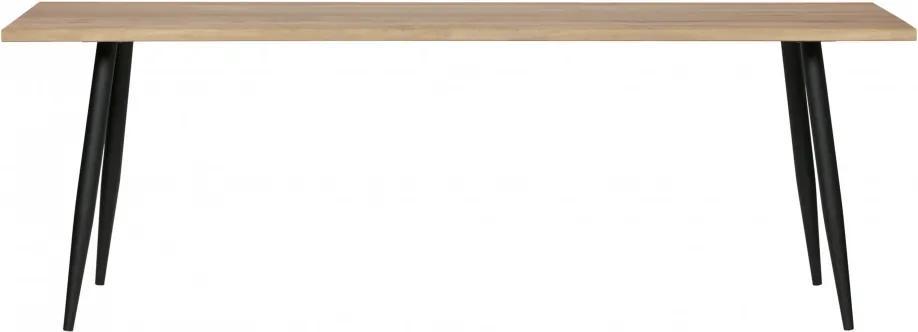Blat de masa dreptunghiular din lemn de stejar Panel 76x190x80 cm