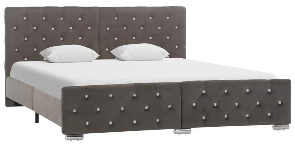 286833 vidaXL Cadru de pat, gri, 160 x 200 cm, material textil