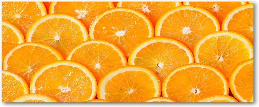 Tablou sticlă acrilică Felii de portocale