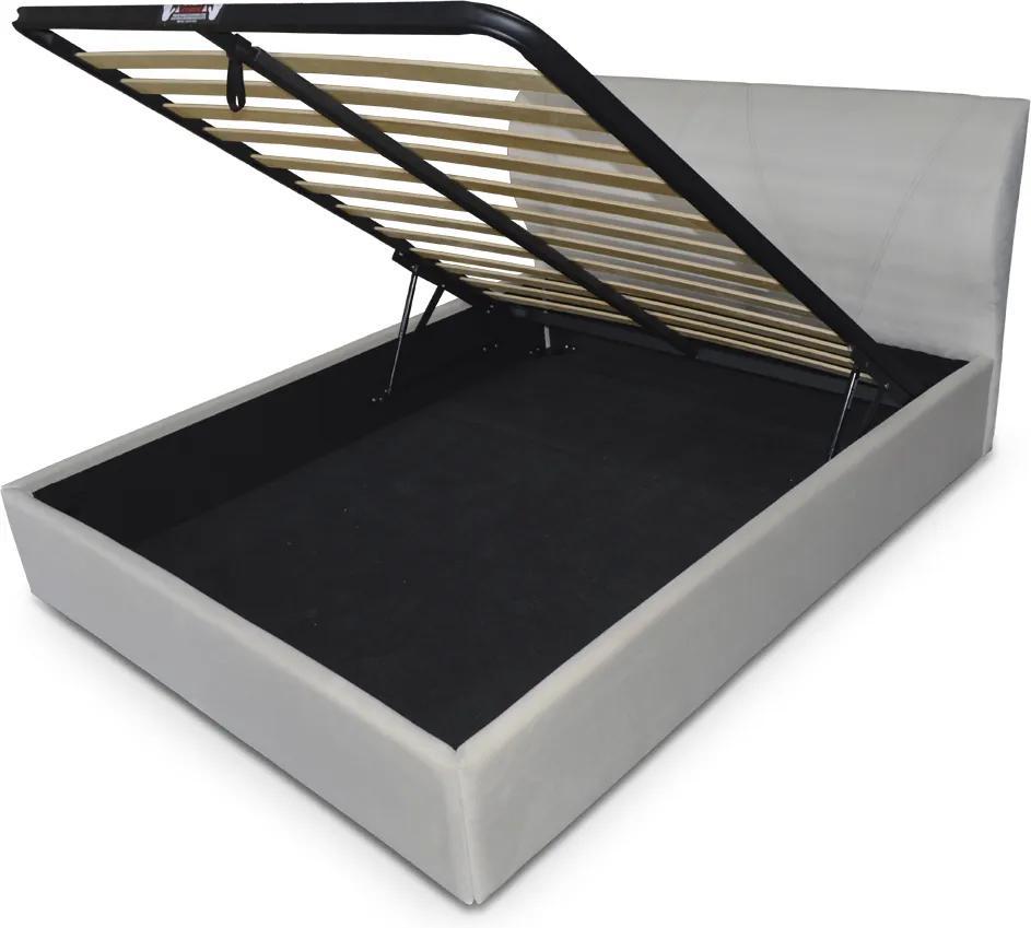 Pat tapitat somiera metalica rabatabila inclusa, dimensiune 140x200, material si culoare la alegere – Model Modena