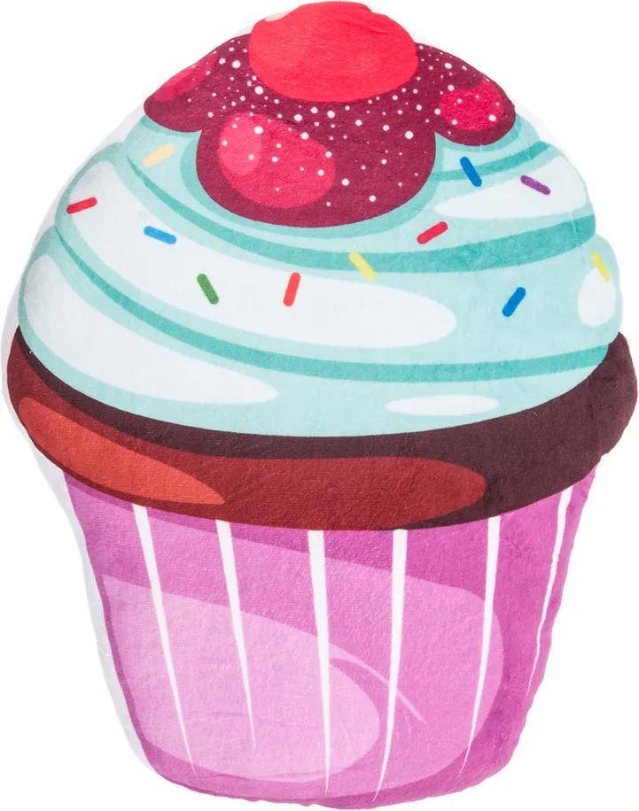 Pernă cu formă aparte Tort mentol topping colorat, 43 x 38 cm