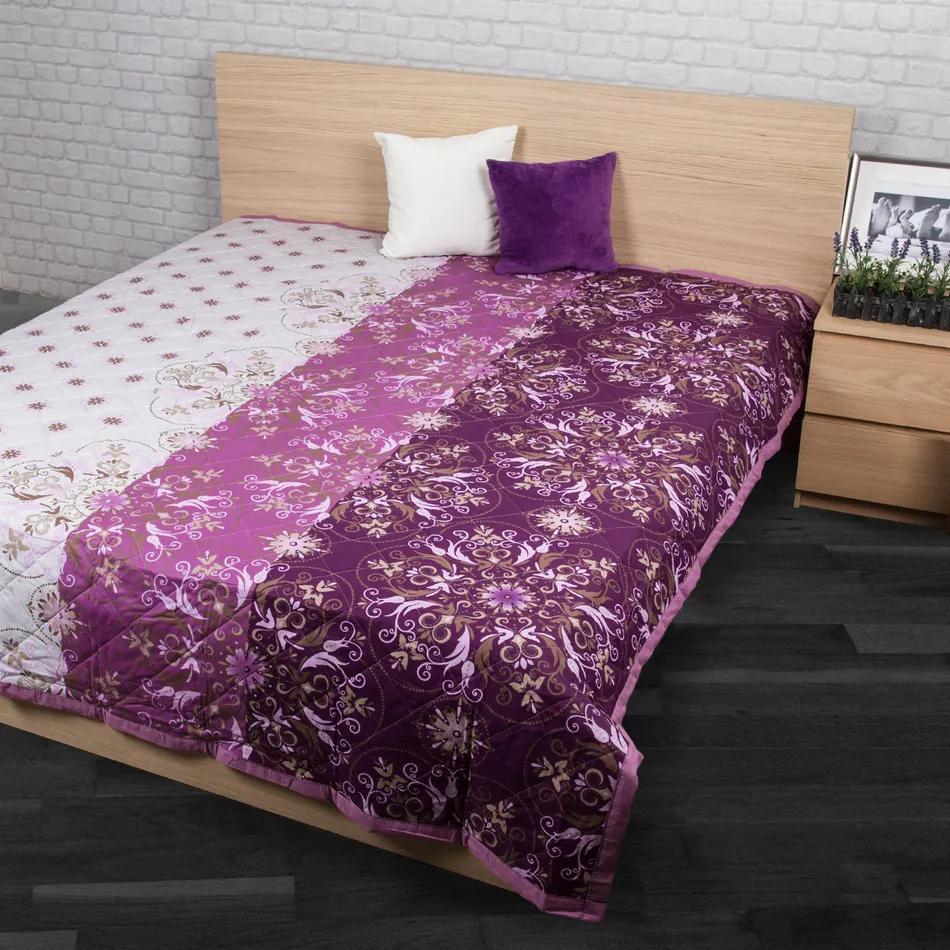 Cuvertură de pat Alberica violet, 240 x 200 cm, 240 x 200 cm