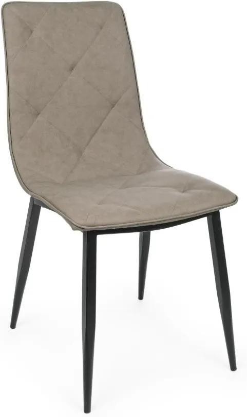 Scaun bej din imitatie piele Victor Tan Chair