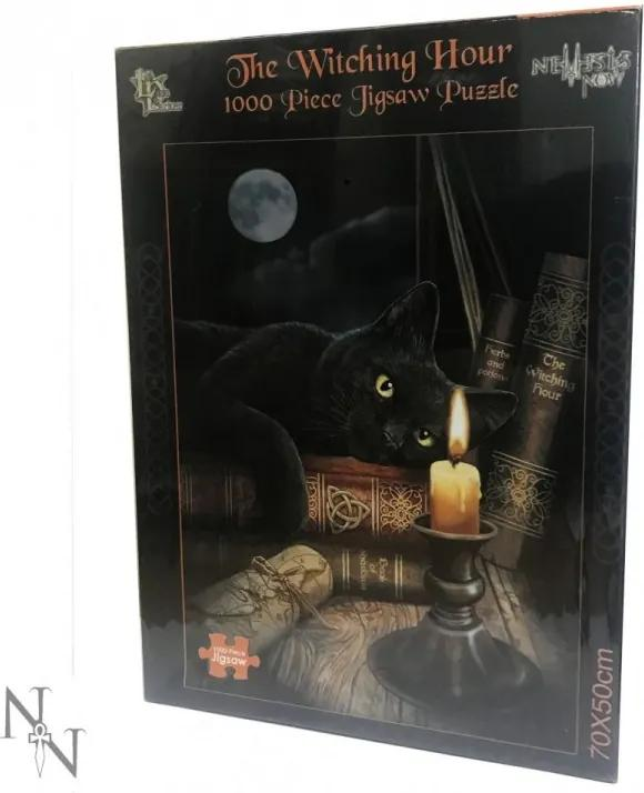 Puzzle 1000 piese pisica Ora Vrajitoarelor - Lisa Parker