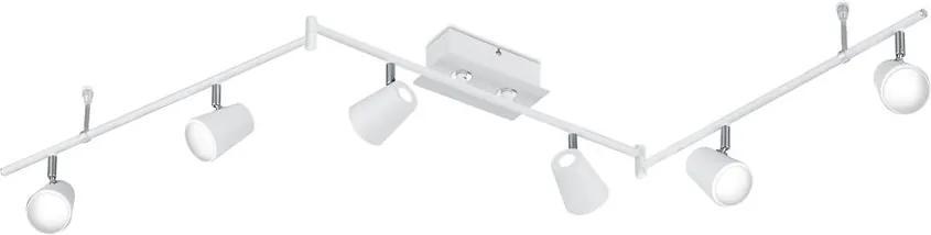 Trio NARCOS 873110631 Plafoniere cu spoturi alb mat alb mat incl. 6 x SMD, 6W, 3000K, 550Lm W:177cm, H:23cm,