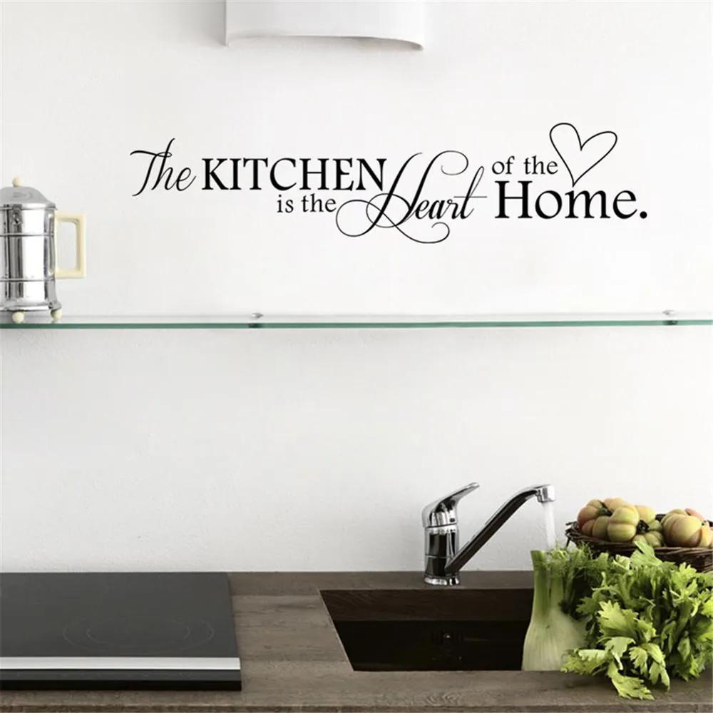 """Autocolant de perete """"Bucătăria este inima casei"""" 66x15 cm"""