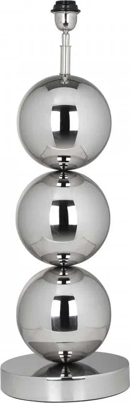 Lampa decorativa din inox/otel Jasey argintie, un bec