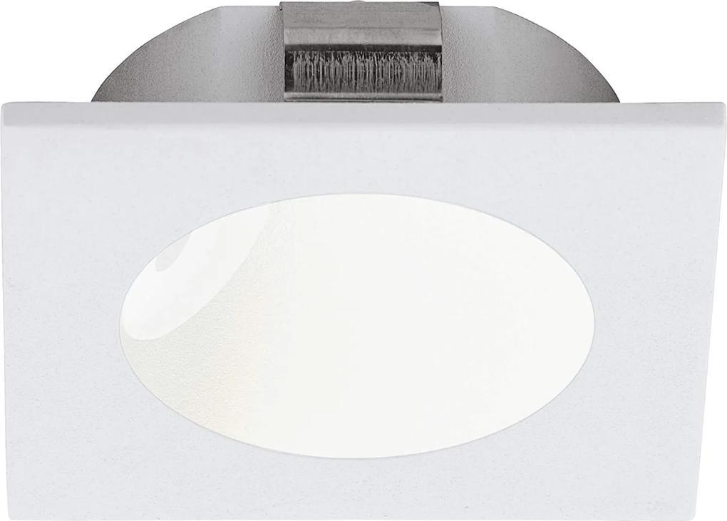 Spot incastrat ZARATE, EGLO, LED, 2W, 200 lm, lumina calda, aluminiu, plastic, alb, 8 x 8 x 4 x 6.3 cm, IP20