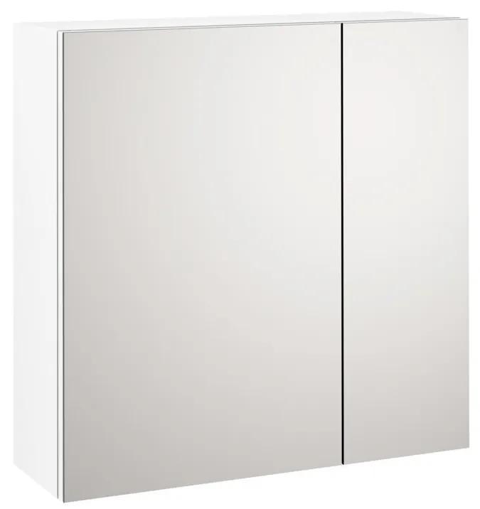Dulap de baie cu oglinda MALMO, Melamina, Alb, 60x20x60 cm