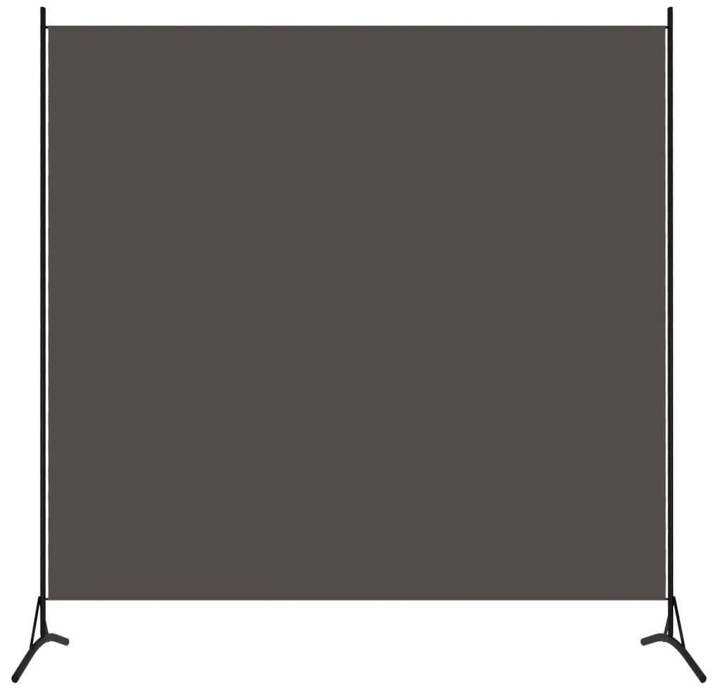 320737 vidaXL Paravan de cameră cu 1 panou, antracit, 175 x 180 cm
