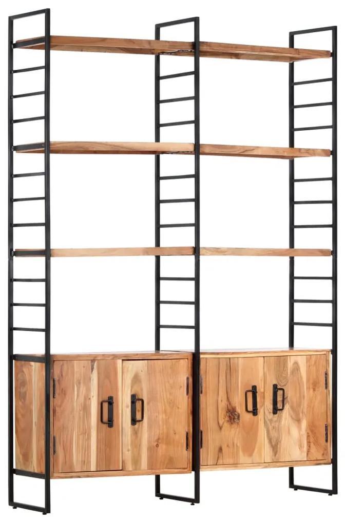 284416 vidaXL Bibliotecă cu 4 rafturi, 124 x 30 x 180 cm, lemn masiv de acacia