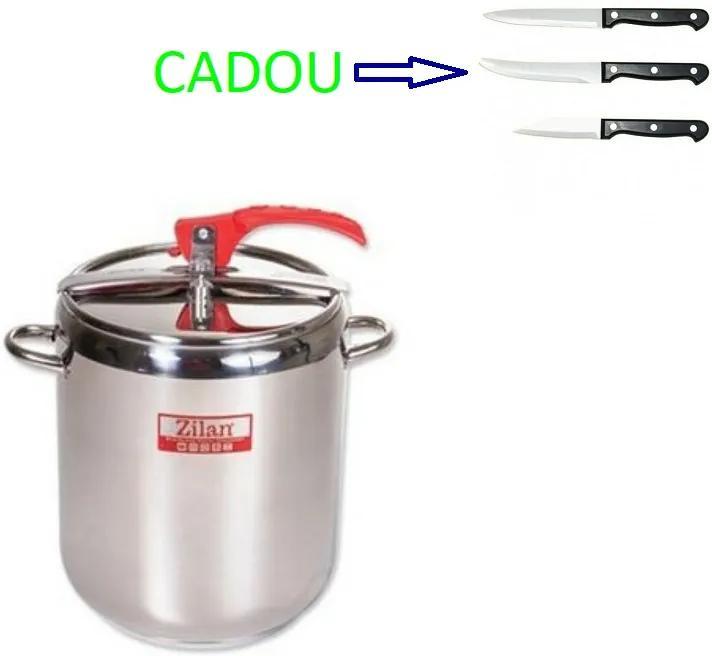 Oala sub presiune Zilan, capacitate 9 l, 3 straturi  ZLN-1015 + Set 3 cutite CADOU ZLN-1015