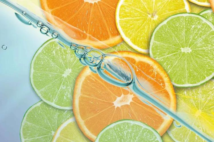 Food Fruits Lime Orange Lemon Fototapet, (416 x 254 cm)