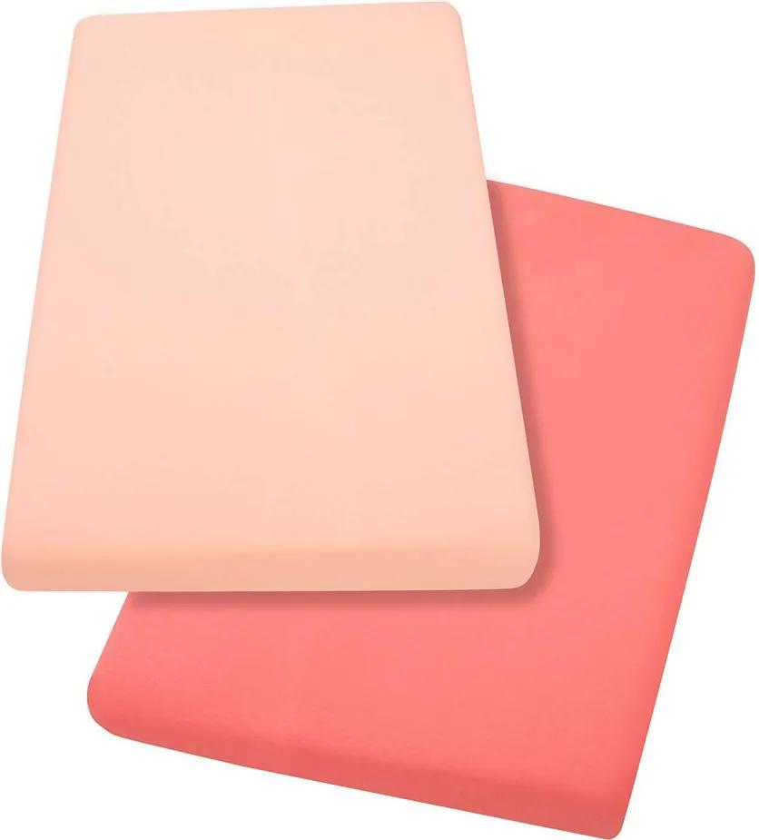 Set cearceaf cu elastic 120cm x 60cm Clevamama 3322 roz