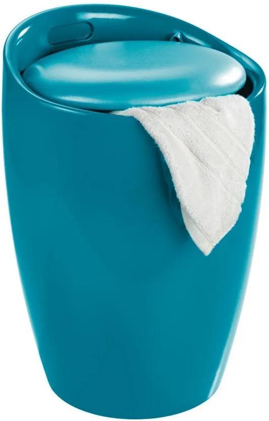 Coș de rufe/taburet Wenko Candy Look, 20 l, albastru