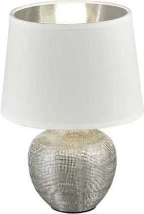 Trio R50621089 Veioze, Lampi de masă argintiu alb excl. 1 x E14, max. 40W D:20cm, H:24cm