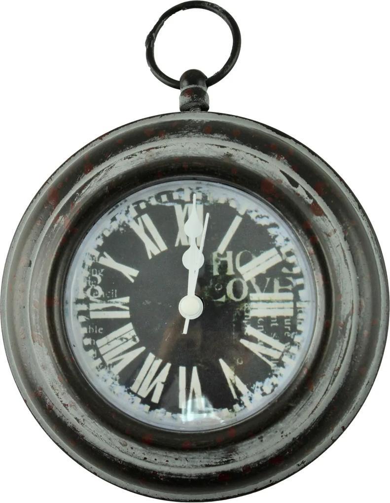 Ceas de perete din metal si sticla cu magnet