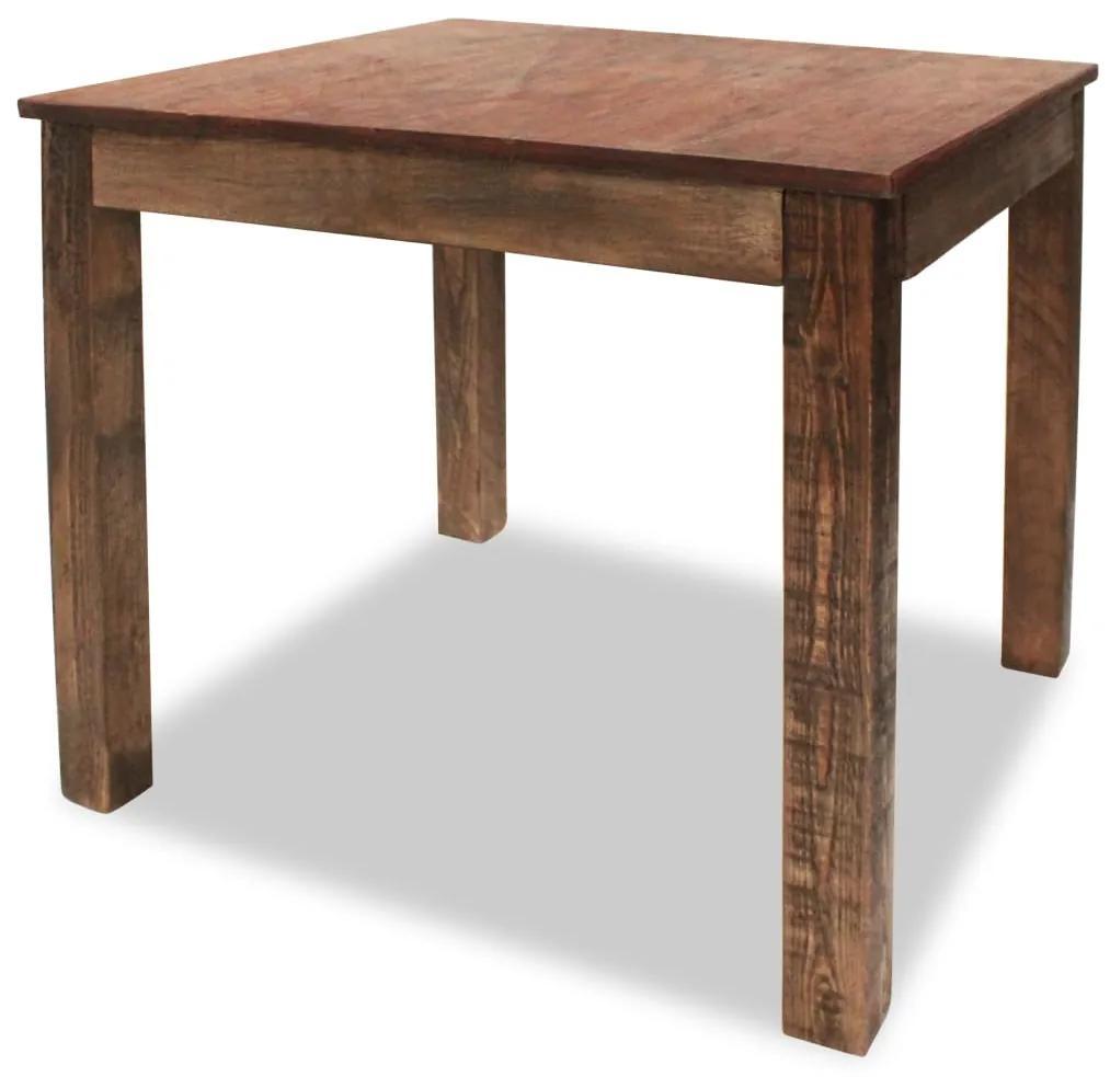 244495 vidaXL Masă de bucătărie din lemn masiv reciclat, 82 x 80 x 76 cm