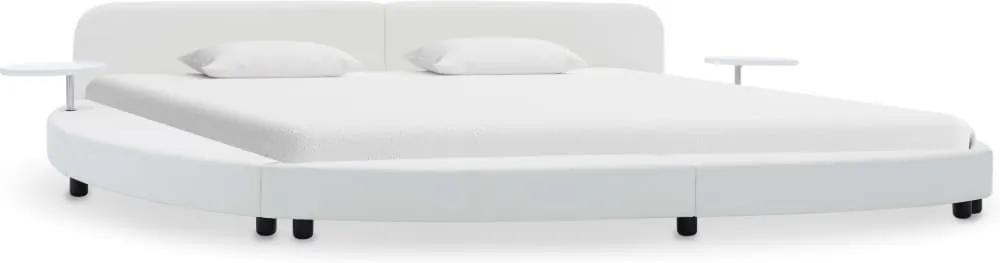 Cadru de pat, alb, 180 x 200 cm, piele artificiala