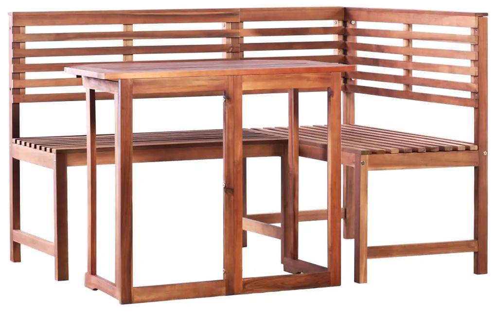 44038 vidaXL Set mobilier bistro, 2 piese, lemn masiv de acacia