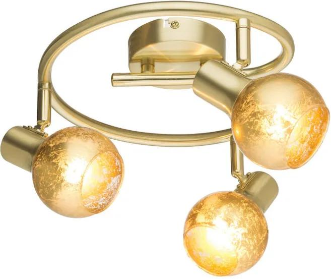 Globo Tigre 54841-3 Plafoniere auriu 3 x E14 max. 25w 15 x 25 x 25 cm