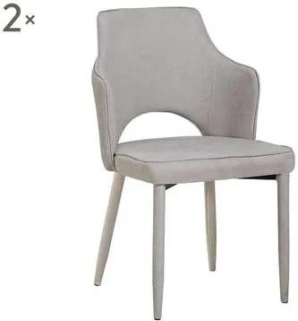 Set de 2 scaune Alhena bej, 60x52x84.5cm