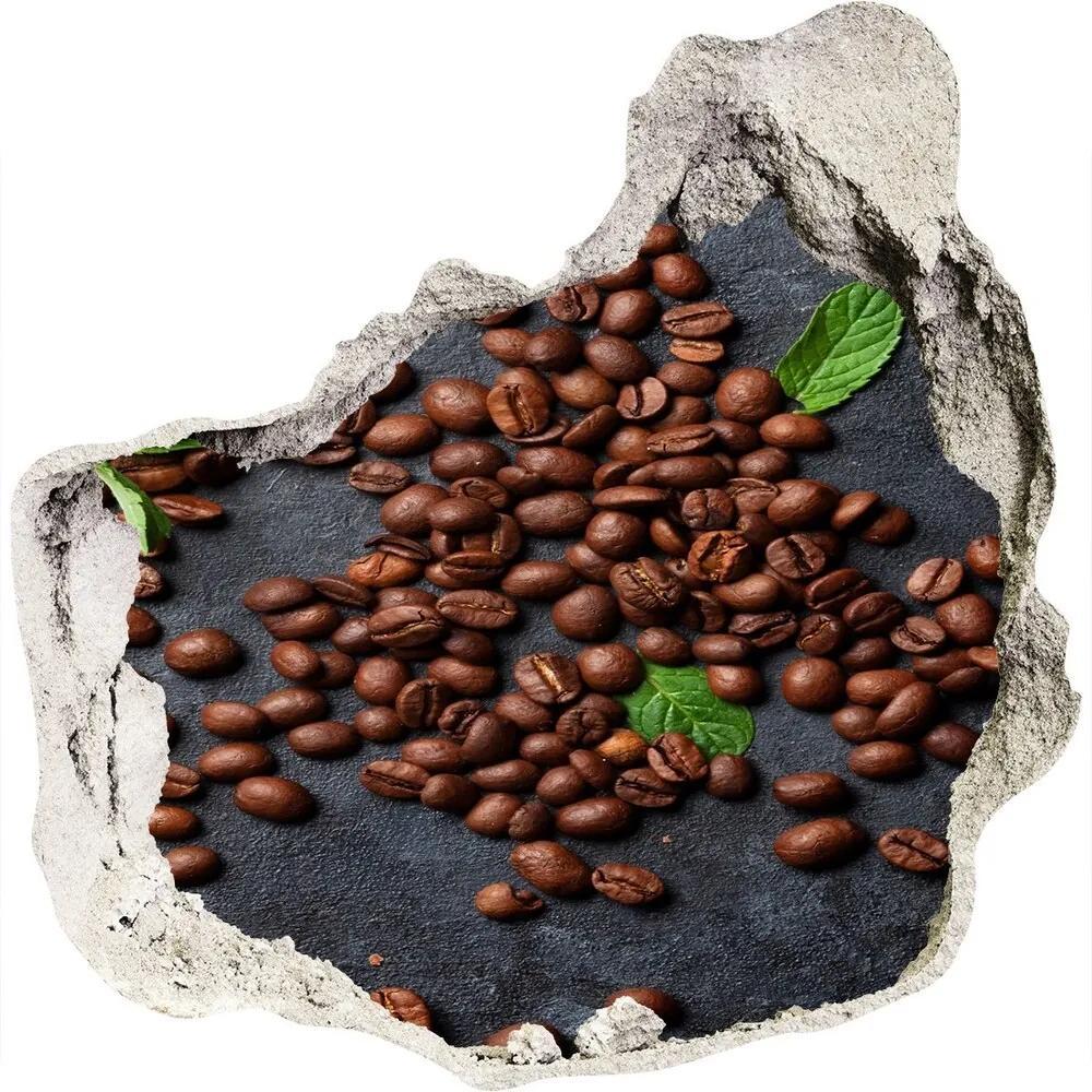 Autocolant 3D gaura cu priveliște Boabe de cafea